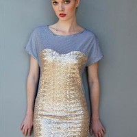 Jersey and Sequin T Shirt Dress from Sugarland