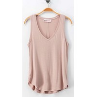 Sew Simple Tank - Tan