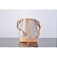 LV Louis Vuitton WOMEN'S DAMIER CANVAS BUCKET SHOULDER BAG