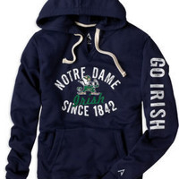 KNIGHTS APPAREL INC : F1237H Pullover Hood : Hammes Notre Dame Bookstore : www.nd.bkstr.com