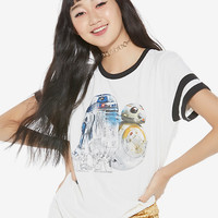Her Universe Star Wars Droids Girls Athletic T-Shirt