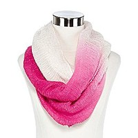 Ruched Ombré Infinity Scarf
