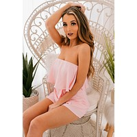 Spring Crush Sleeveless Romper (Blush)