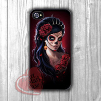 Day of the Dead tattooed girl-1naa for iPhone 4/4S/5/5S/5C/6/ 6+,samsung S3/S4/S5,S6 Regular,S6 edge,samsung note 3/4