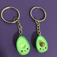 Kawaii Avocado Key chain - Enjoy this adorable avocado set together or share it with your best friend!