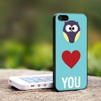 Owl Love You Custom - For iPhone 4,4S Black Case Cover
