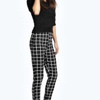 Lorna Grid Check Jogger Style Trousers