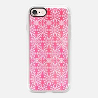 Flower lace_pink iPhone 7 Case by Kanika Mathur | Casetify