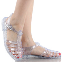 Gia-01 Jelly T-Strap Buckle Sandals