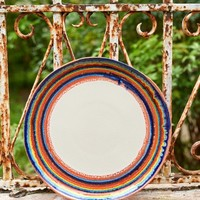Hand Painted Striped Plate