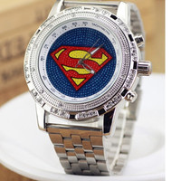 Watches Super Couple Table Superman Design Students Stainless Steel Quartz Wristwatch Men Women = 1946619844