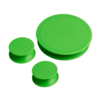 Universal Cleaning Caps for Bongs by Resolution - Rubber - 3 Per Pack
