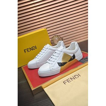 FENDI  Men Fashion Boots fashionable Casual leather Breathable Sneakers Running Shoes0512dp
