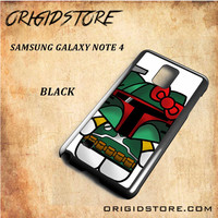 Boba Fett Hello Kitty Star Wars Black White Snap On 3D For Samsung Galaxy Note 4 Case