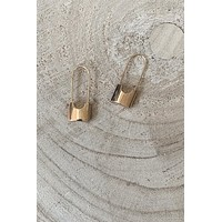SAHIRA 18k Gold Codie Lock Earrings