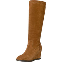 Johnston & Murphy Womens Rebecca Suede Knee-High Wedge Boots