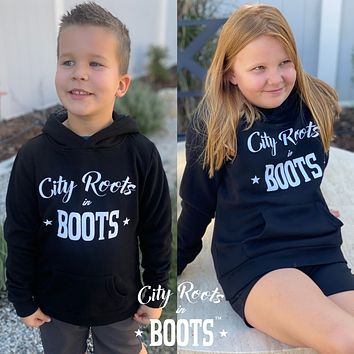 City Roots in Boots Kids Hooded Sweatshirt