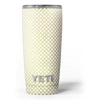 The Golden Micro Morocan Pattern - Skin Decal Vinyl Wrap Kit compatible with the Yeti Rambler Cooler Tumbler Cups