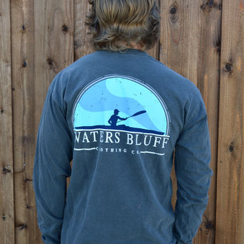 Waters Bluff Paddler Long Sleeve Tee- Pepper
