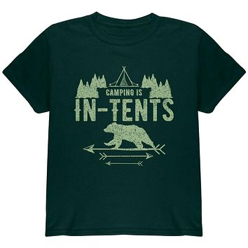 Camping Is In Tents Intense Funny Pun Youth T Shirt