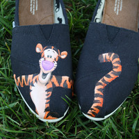 Tigger Original Custom Acrylic Painting for Toms Shoes