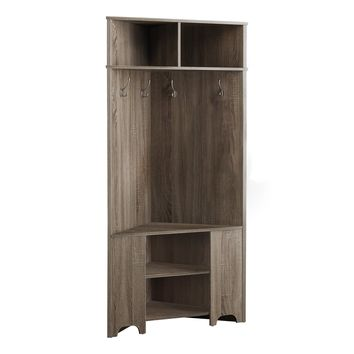 "Hall Tree - 67""H / Dark Taupe Corner Unit"