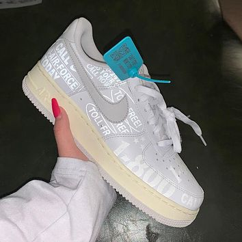 Nike Air Force 1 Low 3M reflective men's and women's sneakers shoes