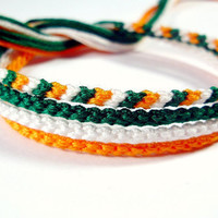 Handmade Irish Friendship Bracelet Set - Four Thin Knotted Friendship Bracelets