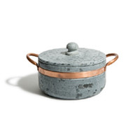 Soapstone & Copper Covered Pot (Small)