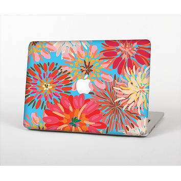 The Brightly Colored Watercolor Flowers Skin Set for the Apple MacBook Pro 13""