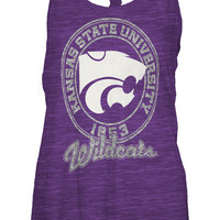 K-State Wildcats Womens Purple Wildcats Andrea Sleeveless Shirt