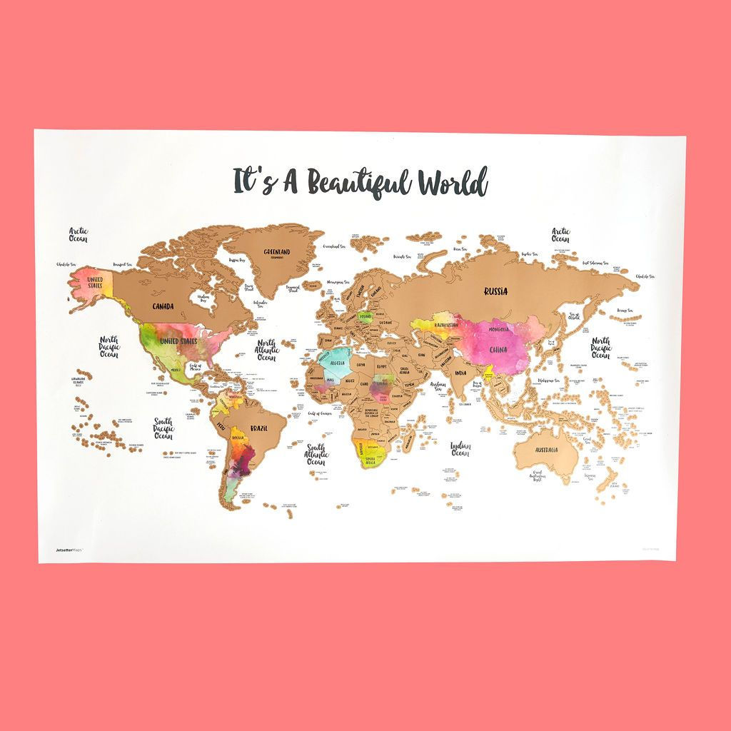 Image of Scratch Your Travels® It's A Beautiful World Map