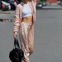 Free People Luxe Satin Jogger