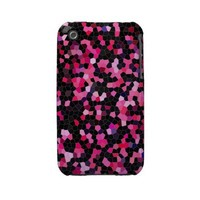 iphone3 pink and black mosaic case iphone 3 cases from Zazzle.com