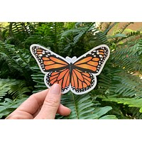 Monarch Butterfly Vinyl Sticker | Monarch butterfly sticker, butterfly decal, butterfly sticker, butterfly vinyl sticker, yeti stickers