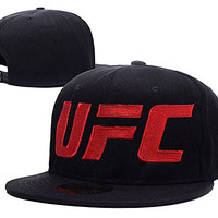 ZZZB Ultimate Fighting Championship UFC Logo Adjustable Snapback Hat Embroidery Cap