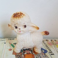 Kitsch Vintage small White Lamb squeak Netta Australian made Lamb Mobley style nursery decor squeak toy collectable baby shower