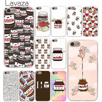 Lavaza chocolate Food Tumblr Nutella Hard Phone Cover Case for Apple iPhone X XR XS Max 6 6S 7 8 Plus 5 5S SE 5C 4S 10 Cases
