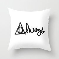 Always, Deathly Hallows, Harry Potter Throw Pillow by BeckiBoos