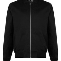 Black Cotton Bomber Jacket - Top Rated Styles - New In
