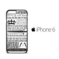 Game of Thrones Nights Watch Oath Z0698 iPhone 6 Case