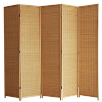 4 Panel 100CM Fabric Room Divider Panel Screen Furniture