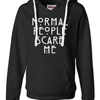 Womens Normal People Scare Me Deluxe Soft Hoodie