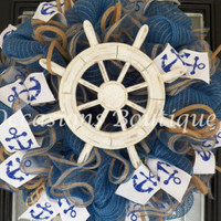 Spring Wreath, Crawfish Party Decoration, Summer Wreaths, Front door Wreath, Wreath for Door, Crawfish Boil, Ready to Ship
