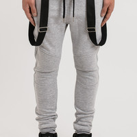 B11 Strapped Biker Joggers - Grey