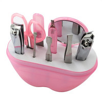 9Pcs Manicure Set Manicure Pedicure Set Nail Clippers Scissors Grooming Kit [9325741828]