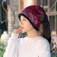 Yienws Winter Hats For Women Kpop Print Hip Hop Hats Bonnet Femme Womans Skullies Beanies Slouch Cap 2 Uses Hats YH396