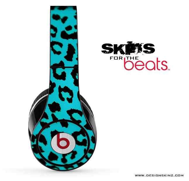 Image of Turquoise Cheetah Skin for the Beats by Dre