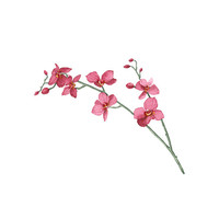 Watercolor Orchid Temporary Tattoo wrist ankle body sticker fake tattoo large water-colour