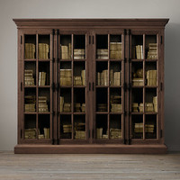 French Casement Wide Glass Cabinet